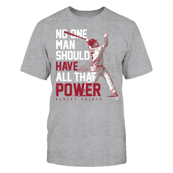 Albert Pujols Official Apparel - this licensed gear is the perfect clothing for fans. Makes a fun gift!