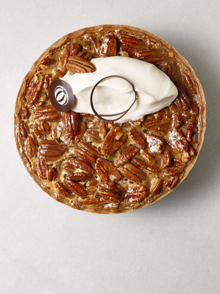 Pecan Pie from Bouchon Bakery. Photo: Deborah Jones Pecan Pie Yield: 1 pie Pie Crust 2 sticks butter (diced, cold) 1 cup flour 1 tablespoon salt ½ cup water (cold) In a mixer fitted with a paddle combine all ingredients except for the water. Mix until mealy, once mealy slowly add water until combined