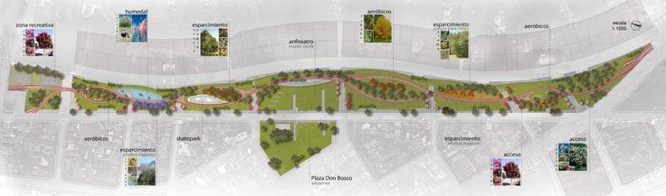 Tercer Lugar Concurso Parque Lineal Quilmes Planta General