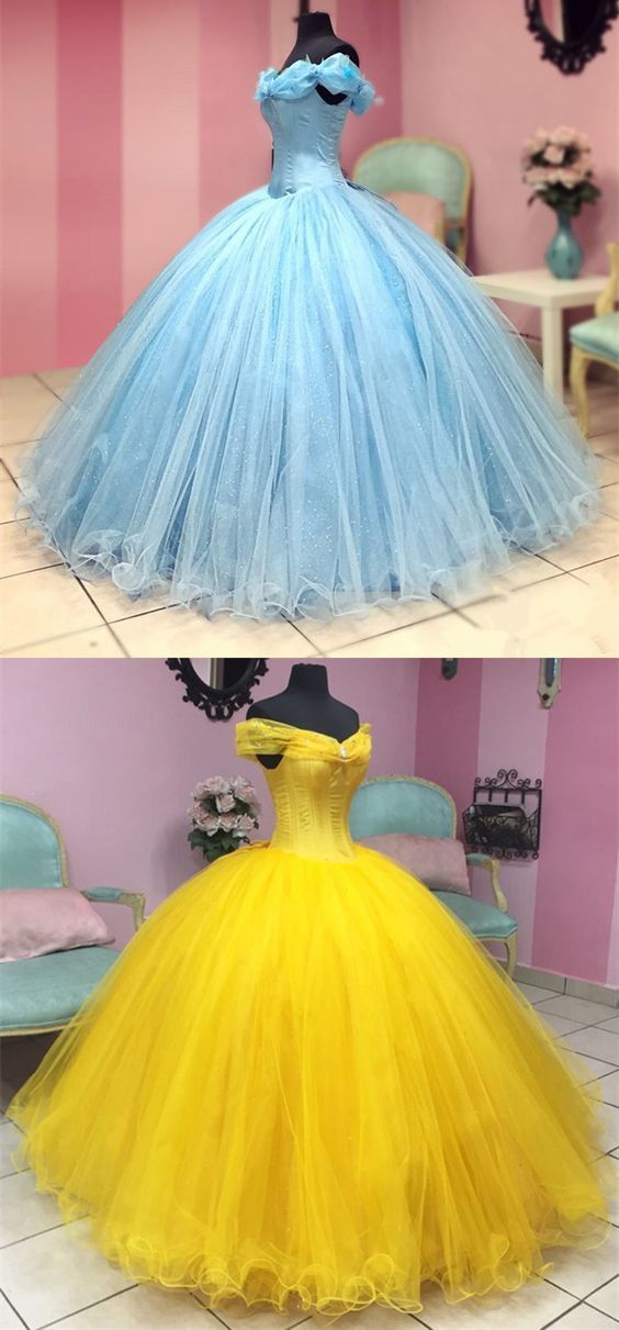 Cinderella Ball Gown Quinceanera Dresses For Sweet 16 Party