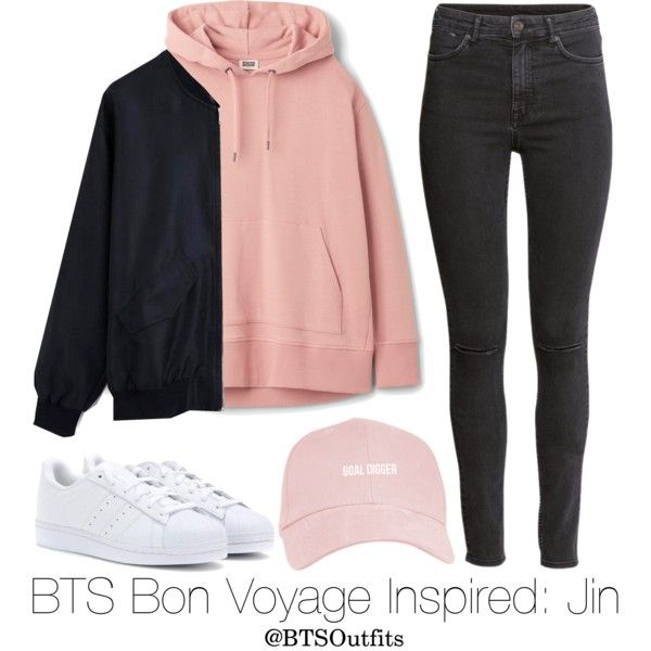 BTS Bon Voyage Inspired: Jin by btsoutfits on Polyvore featuring мода, H&M and adidas