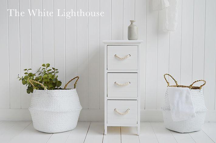 Maine Narrow White Cabinet White Bathroom Furniture Furniture Narrow Cabinet