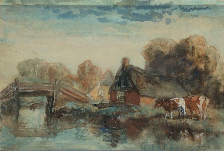 51 best images about arnold hendrik koning schilderijen en aquarellen on pinterest auction - Schilderij van gang ...