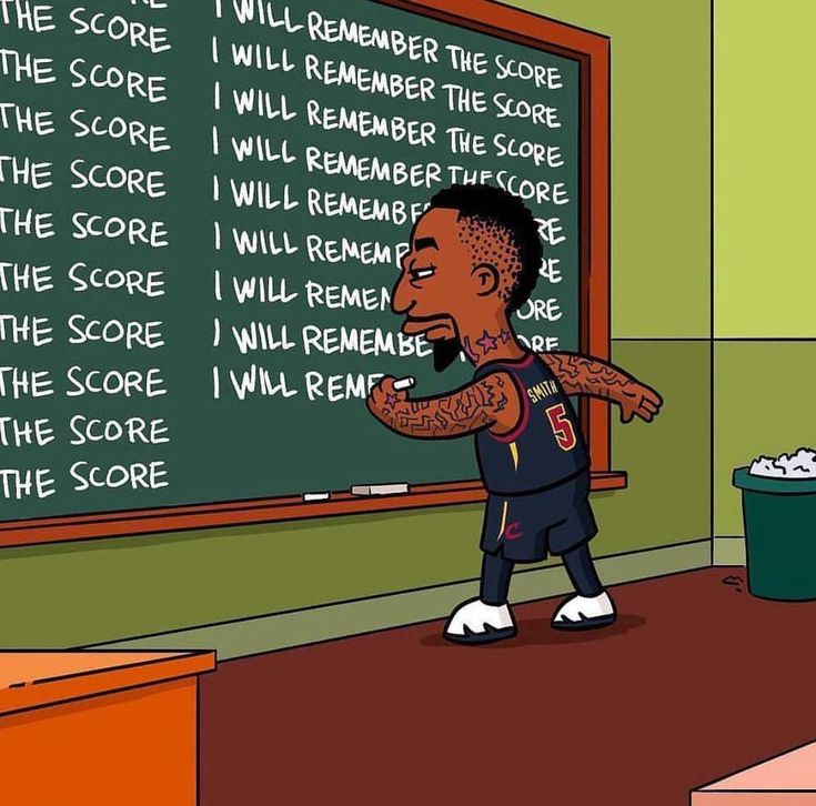 Cleveland Cavs J. R. Smith, Simpsons, Score #greatsportsmemes   – Nariah