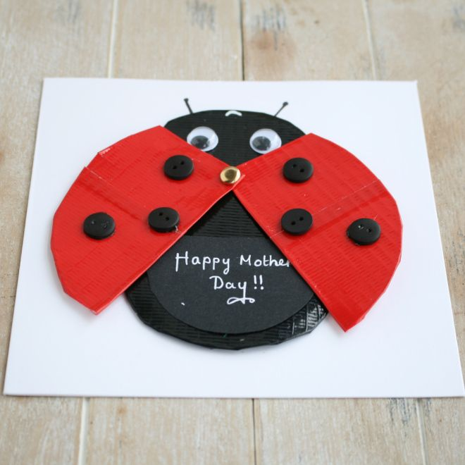 4 Easy Mother's Day Card Ideas #Mothersday #CardMaking #Papercraft #KidsCraft #Ladybird