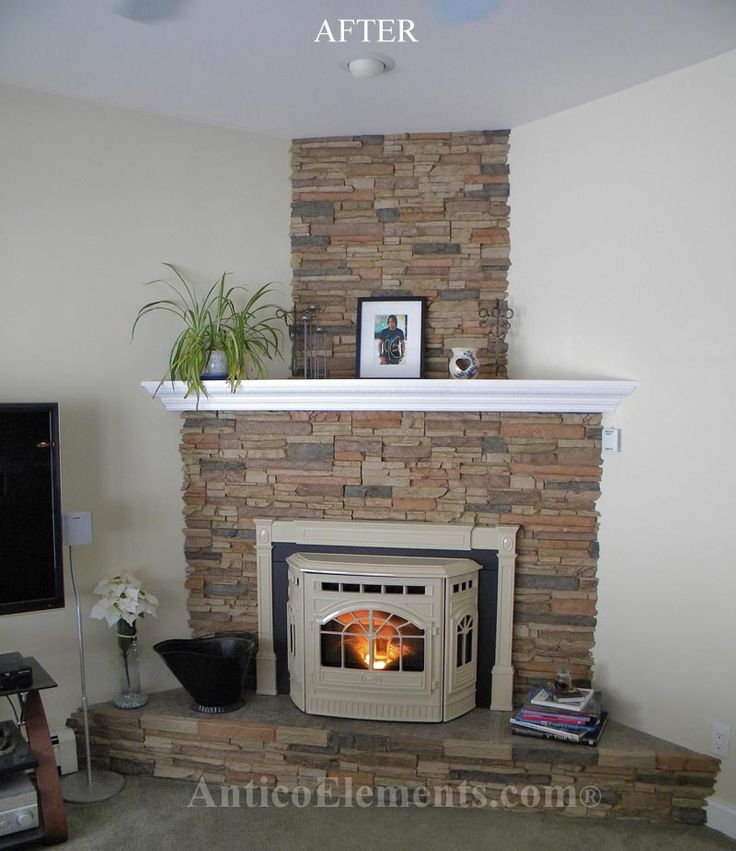 25 best ideas about faux stone fireplaces on pinterest