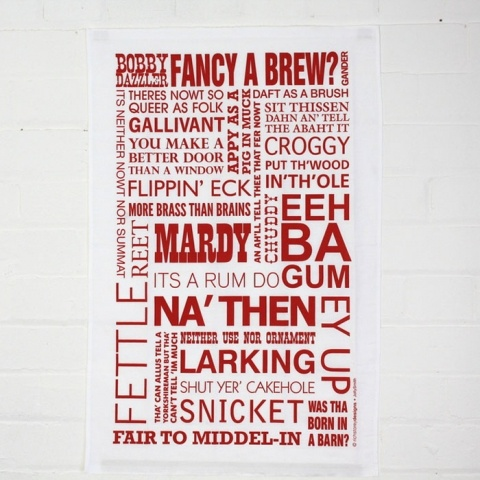 Jolly Smith Yorkshire tea towel in red. http://www.worldstores.co.uk/p/Jolly_Smith_Yorkshire_Tea_Towel_in_Red.htm
