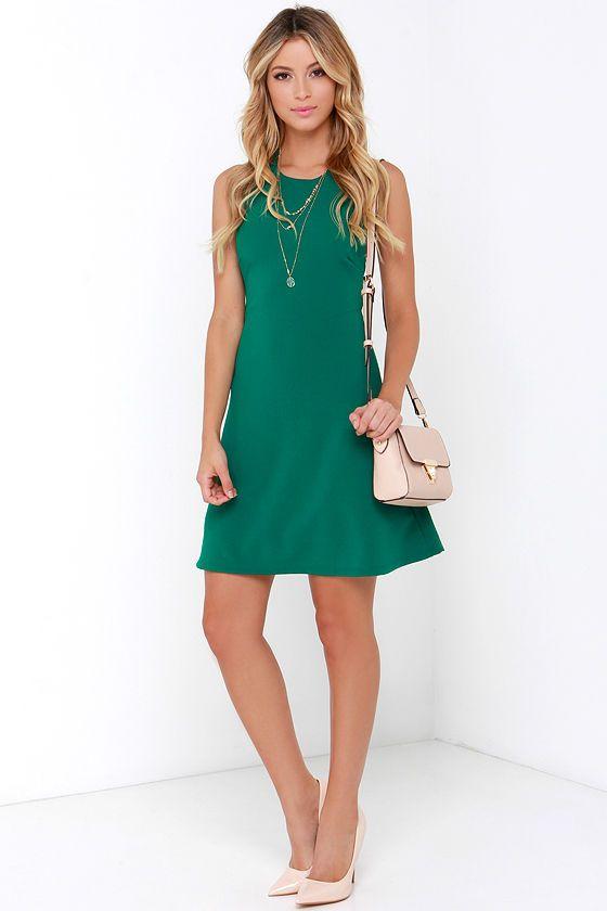 Count On Me Teal Green Halter Dressat Lulus.com!