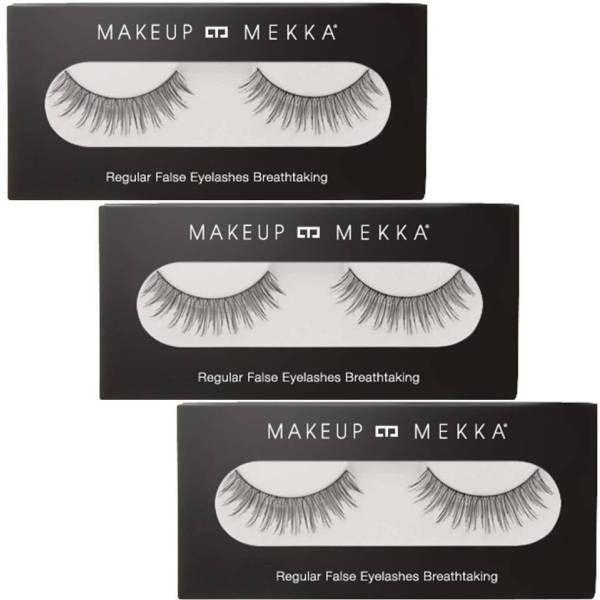 3-PACK REGULAR FALSE EYELASHES BREATHTAKING fra Makeupmekka. Om denne nettbutikken: http://nettbutikknytt.no/makeupmekka-no/