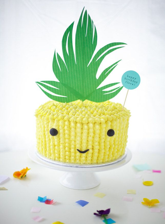 pineapple cake by Coco Cake Land