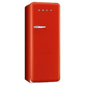Smeg FAB28QR1 Retro Fridge with Freezer Compartment, A++ Energy Rating, 60cm Wide, Cherry Red