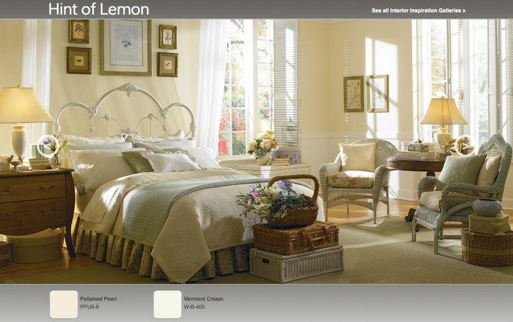 hint of lemon soft yellow interior paint color palette. Black Bedroom Furniture Sets. Home Design Ideas