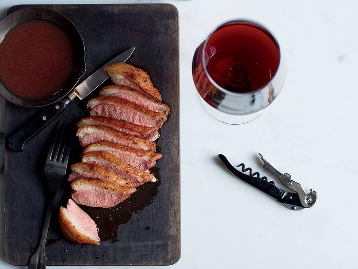 Seared Duck with Date Jus and Piave Foam Recipe  - Evan Algorri   Food & Wine
