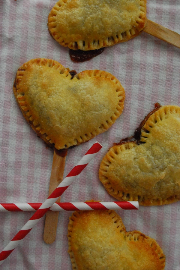 Strawberry and Nutella Heart-Shaped Pie Pops