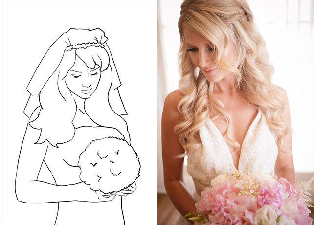 20 лучших поз для свадебной фотосессии, трогательный портрет невесты