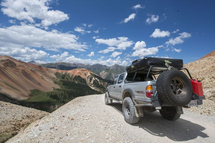 First Gen Tacoma At The Top Of Black Bear Pass In Ouray