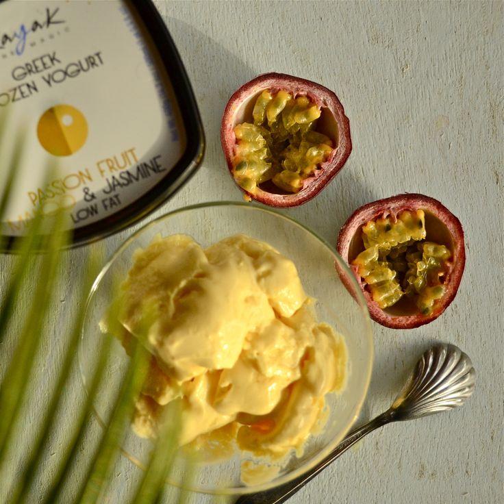 Passion Fruit Mango & Jasmine Kayak Greek Frozen Yogurt!  www.kayak.gr www.facebook.com/KAYAK.PureMagic www.instagram.com/kayak_ice_cream/
