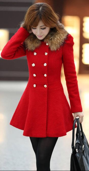 Love the style of this coat, but it'd be better without the faux fur part.