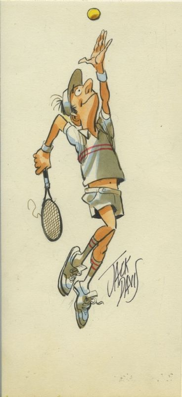 Jack Davis Tennis Player Comic Art ( He is a pro lol)