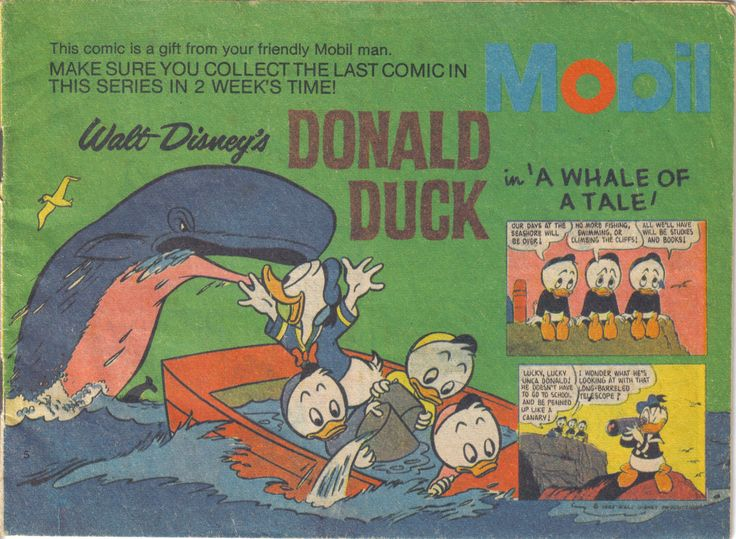 New Zealand - Donald Duck (English) (Mobil Giveaway) Scanned image of comic book (© Disney) cover