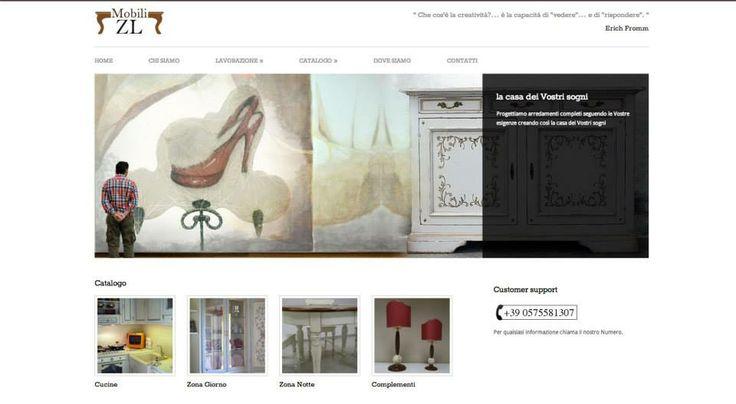 Progettazione sito web mobilizl.it Azienda lavorazione artigianale del legno, verniciatura e decorazione.  http://www.mobilizl.it/