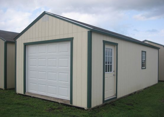 Box roof style portable metal garage