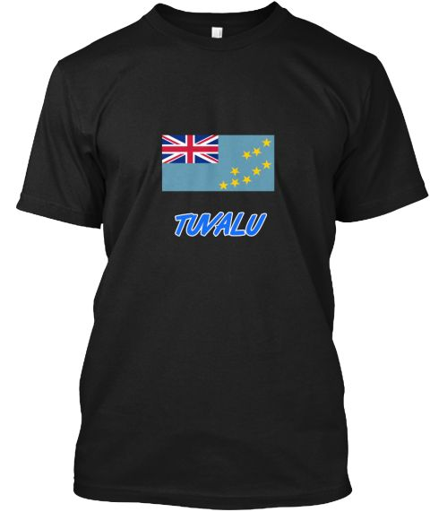 Tuvalu Flag Artistic Blue Design Black T-Shirt Front - This is the perfect gift for someone who loves Tuvalu. Thank you for visiting my page (Related terms: I Heart Tuvalu,Tuvalu,Tuvaluan,Tuvalu Travel,I Love My Country,Tuvalu Flag, Tuvalu Map,Tuvalu Langua #Tuvalu, #Tuvalushirts...)