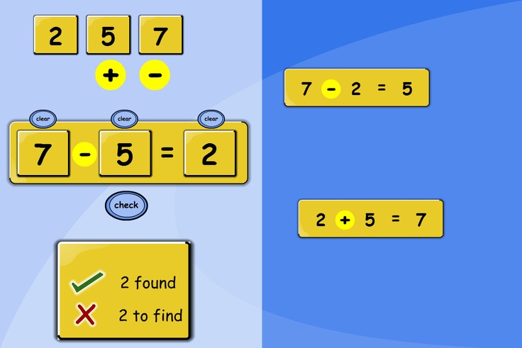Inverse Relationships: Find four different calculations from the same three numbers. Make number sentences using the three numbers provided. Save them in the bank and check your answers.