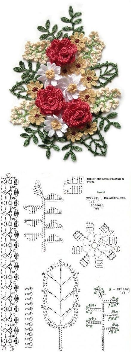 Amazing bouquet crochet pattern