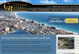 New Insurance Law Attorneys added to CMac.ws. Chesser & Barr, PA in Crestview, FL - http://insurance-law-attorneys.cmac.ws/chesser-barr-pa/11748/