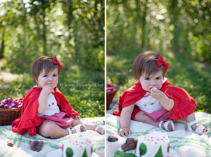 Smash the cake petit chaperon rouge | Photographe à Montréal | Cute World Photographie