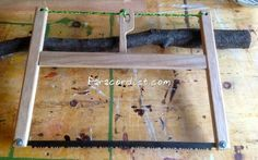 Paracordist Creations LLC: DIY Folding Buck Saw Details & New Never Before Seen Buck Saw design!