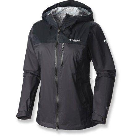 Columbia Evapouration Premium Rain Jacket - Shark/Black