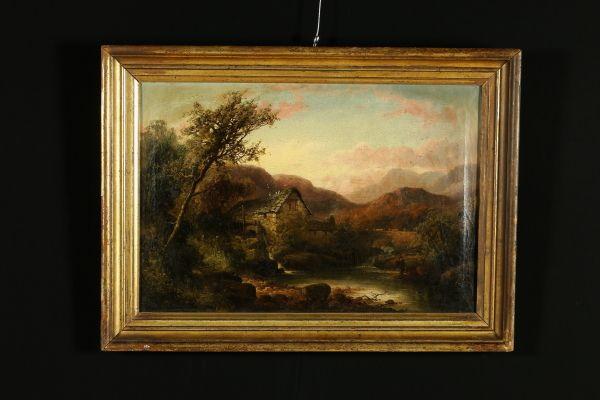 Olio su tela. In basso a destra compare la firma L.Bisi, che risulta però apposta in fase successiva alla realizzazione del dipinto. In prima tela. Presentato in cornice di fine '800.