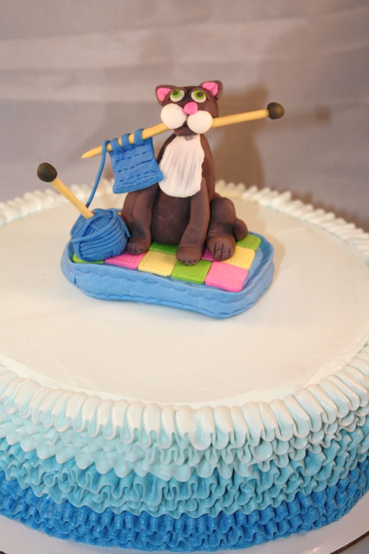 Knitting Cake Toppers : Best ideas about knitting theme cakes and other edible