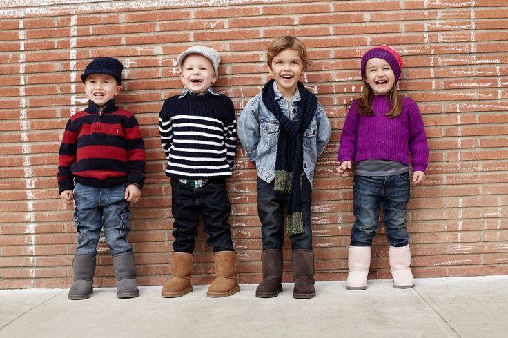 "Moda infantil: Botas estilo ""ugg"""