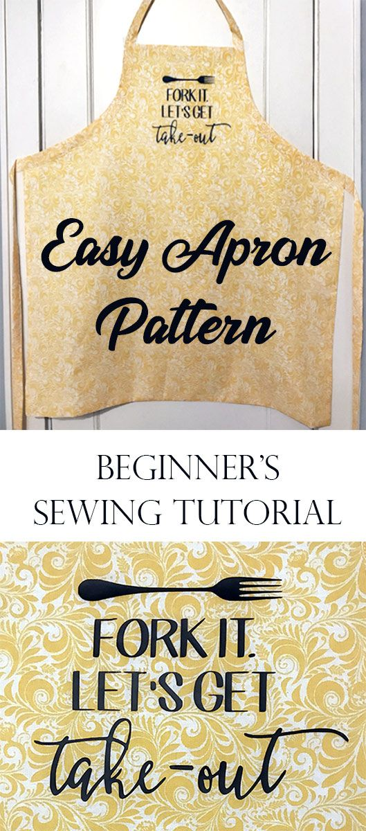 """Fork It, Let's Get Takeout"" Reversible Apron. A great starter project for …"