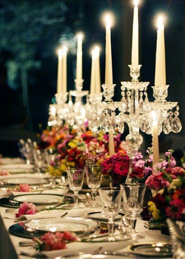 Une table de mariage façon banquet baroque