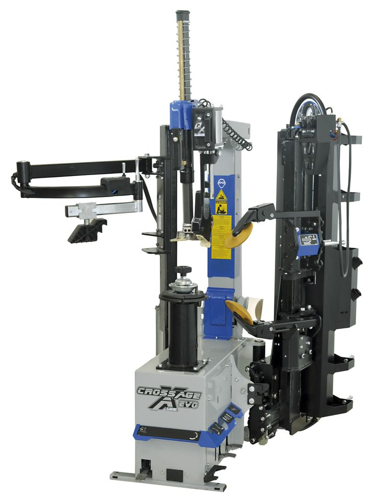 Super-automatic leverless tyre fitting machine. It's equipped with a double arm(disk) air operated bead breaker system and with a patented ultra-quick wheel clamping system.