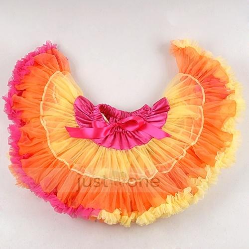 Baby Kids Girls Dancewear Cute Chiffon Tutu Full Pettiskirt Princess Skirt 1 8Y | eBay