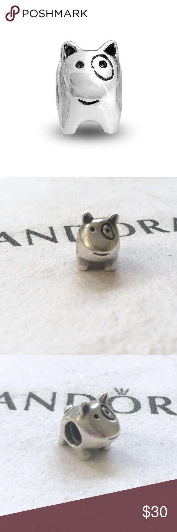 Pandora dog charm sterling silver doggie charm Authentic Pandora charm. Pandora dog charm with a circle around its eye. Reminds me of the Target bullseye terrier dog. Sterling silver charm stamped with S925 one one side and Ale on the other.   Bundle to save!   *Does not include the bracelet or cloth, and I'm sorry I do not have a box*  #Pandora dog Charm, Pandora doggie charm, Pandora puppy charm, Pandora terrier charm, Pandora Sterling silver charm, Pandora retired charm, Pandora…