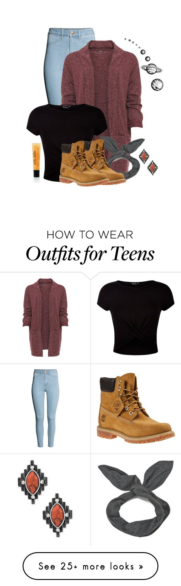 """o yikes school has started for me"" by sensitive-pajaro on Polyvore featuring H&M, WearAll, New Look, Cheap Monday, Timberland, Steve Madden and plus size clothing"