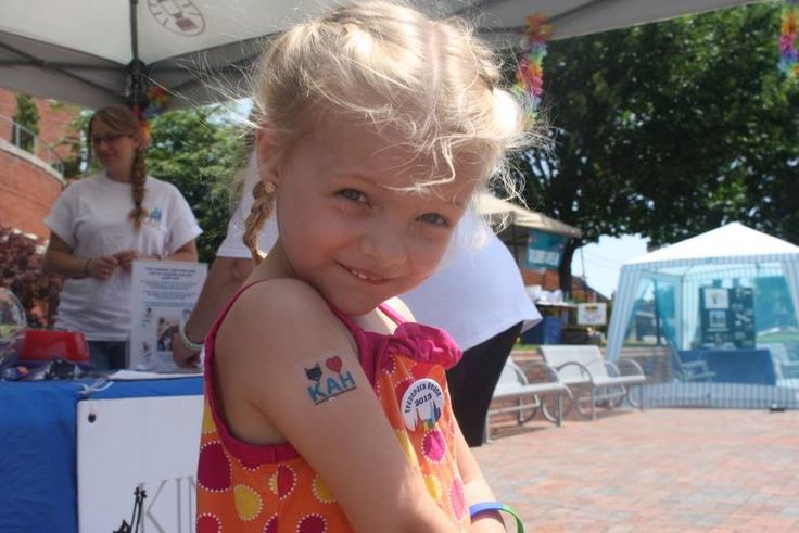 This little girl got a KAH tat to show her support. #AnimalHospital #Veterinarian #Pets #KAH #FrederickMaryland #KingsbrookAnimalHospital #Vet #CommunityEvents #FrederickPride