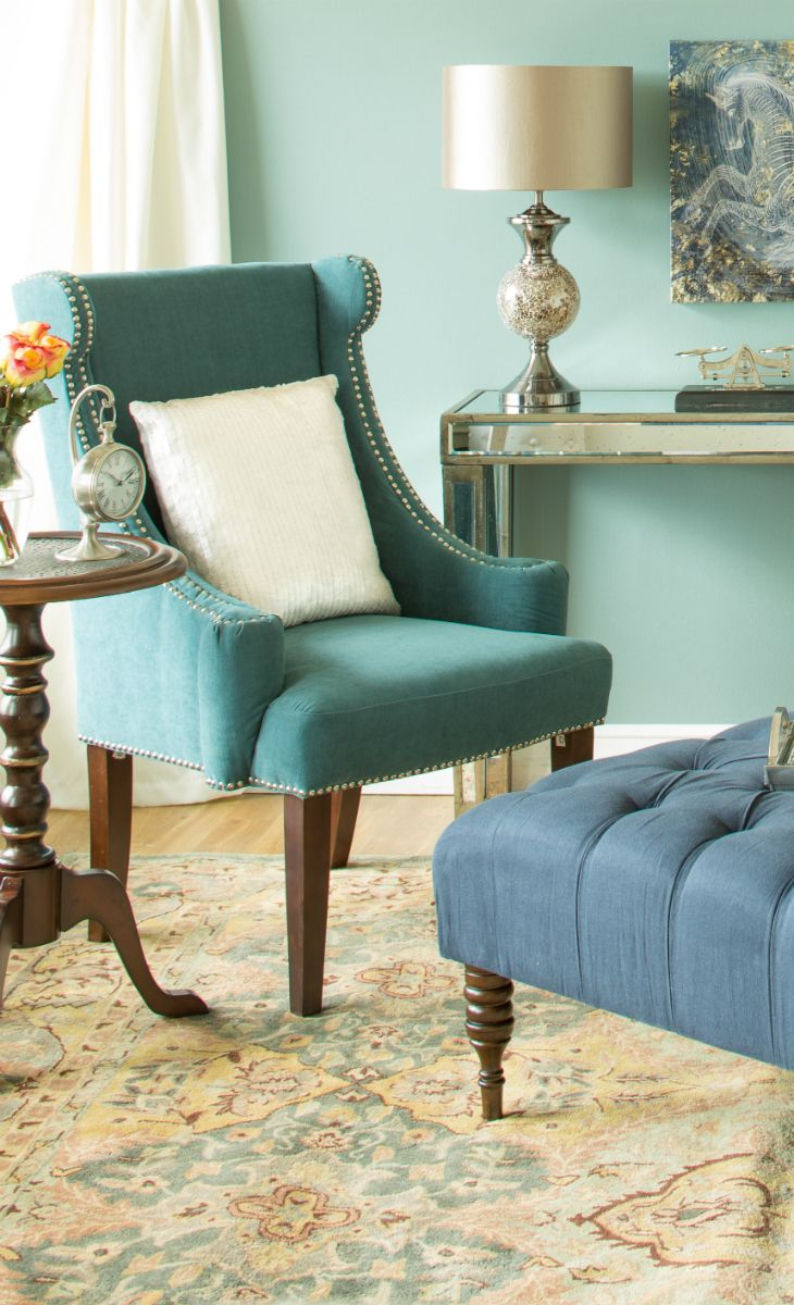 Teal and Blue complement each other beautifully.