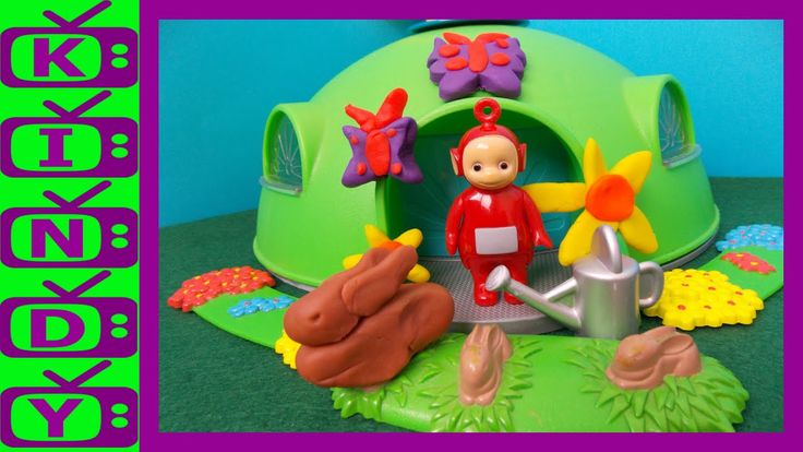 New Teletubbies Story. Po's Magic Watering Can. Using play-doh & Teletub...