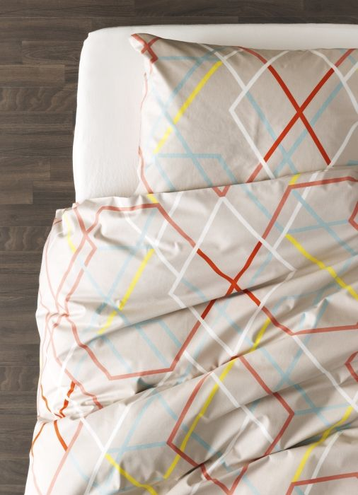 A multi-coloured and fun pattern for your bedroom.