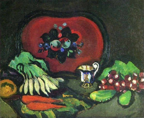 Tray with Vegetables, Pyotr Konchalovsky, 1910. Recipes: Brussels Sprouts with…