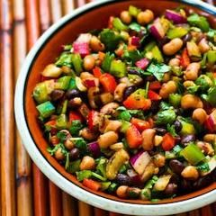 Black Bean, Chickpea, and Avocado Salad