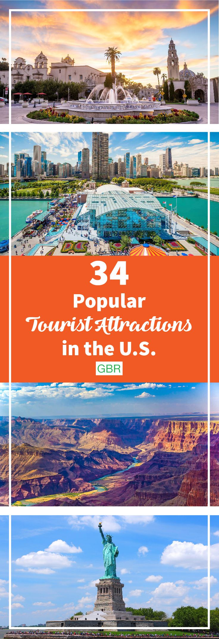 Planning a vacation within the U.S.? Don't miss these popular tourist attractions while traveling! They're actually worth your time.