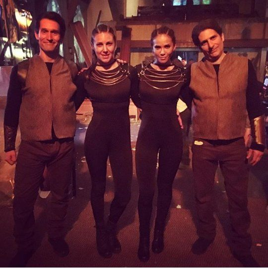 Lesley And Michael With Their Stunt Doubles #Maze #Uriel